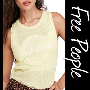 Free People Martine Tank Top NWT L